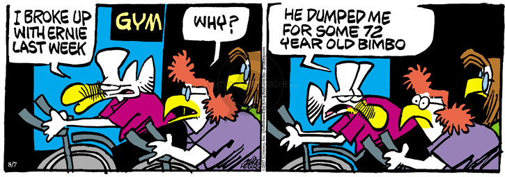 Comic Strip Mike Peters  Mother Goose and Grimm 2017-08-07 broke