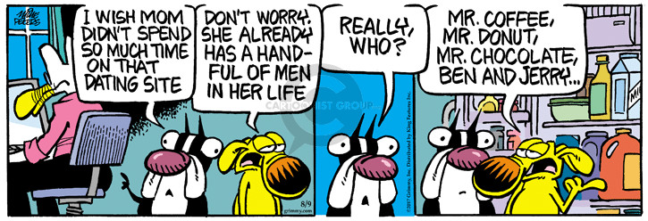 Comic Strip Mike Peters  Mother Goose and Grimm 2017-08-09 life
