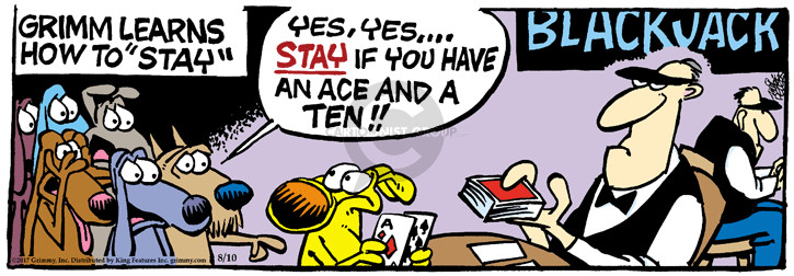 Comic Strip Mike Peters  Mother Goose and Grimm 2017-08-10 card