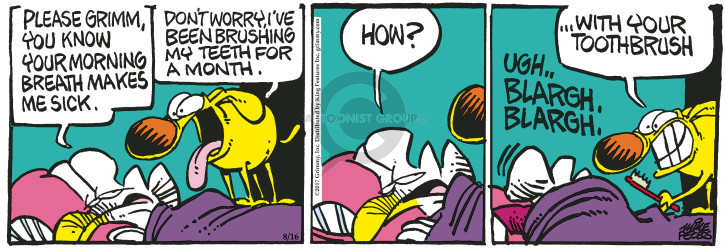 Comic Strip Mike Peters  Mother Goose and Grimm 2017-08-16 dog teeth
