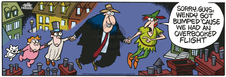 Cartoonist Mike Peters  Mother Goose and Grimm 2017-08-24 travel