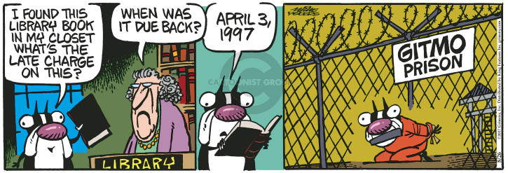 Comic Strip Mike Peters  Mother Goose and Grimm 2017-08-26 Gitmo