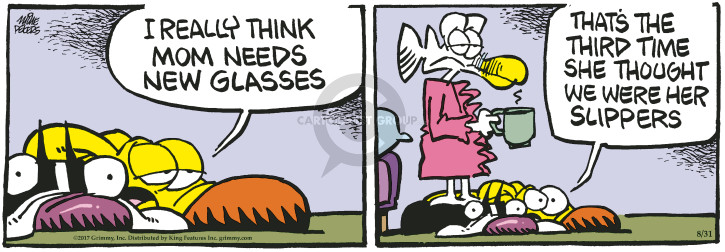 Comic Strip Mike Peters  Mother Goose and Grimm 2017-08-31 eyesight