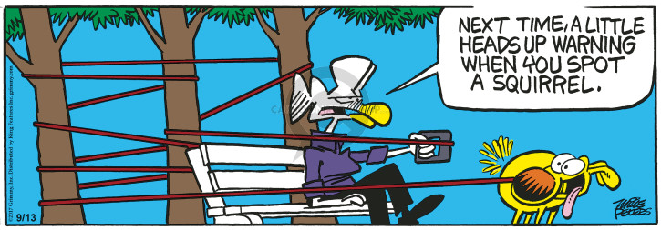 Cartoonist Mike Peters  Mother Goose and Grimm 2017-09-13 leash