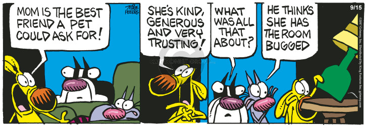 Comic Strip Mike Peters  Mother Goose and Grimm 2017-09-15 pet