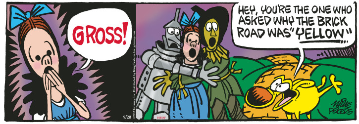 Cartoonist Mike Peters  Mother Goose and Grimm 2017-09-20 wizard