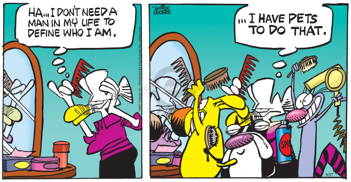 Comic Strip Mike Peters  Mother Goose and Grimm 2017-09-17 man