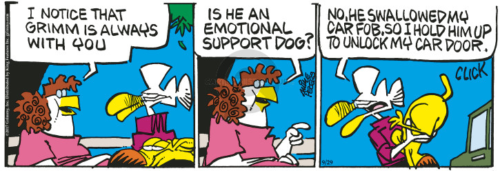 Comic Strip Mike Peters  Mother Goose and Grimm 2017-09-29 animal