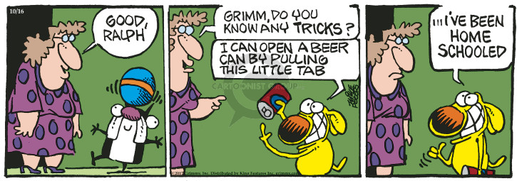 Comic Strip Mike Peters  Mother Goose and Grimm 2017-10-16 opening