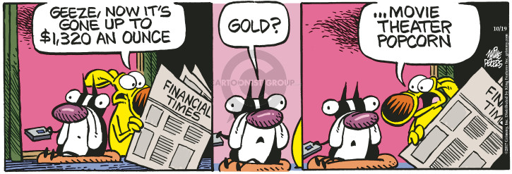 Cartoonist Mike Peters  Mother Goose and Grimm 2017-10-19 financial