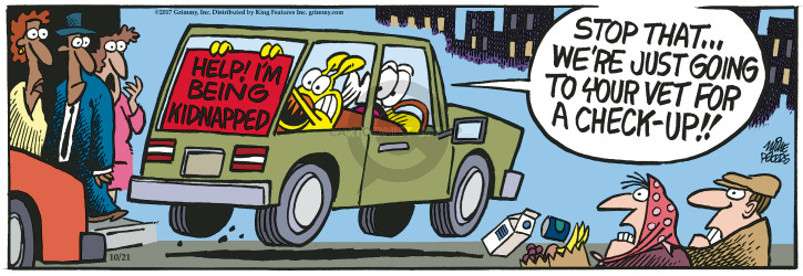 Cartoonist Mike Peters  Mother Goose and Grimm 2017-10-21 check