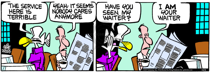 Comic Strip Mike Peters  Mother Goose and Grimm 2017-11-09 restaurant server