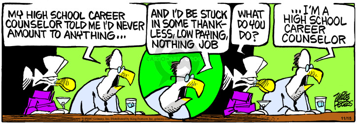 Comic Strip Mike Peters  Mother Goose and Grimm 2017-11-15 profession
