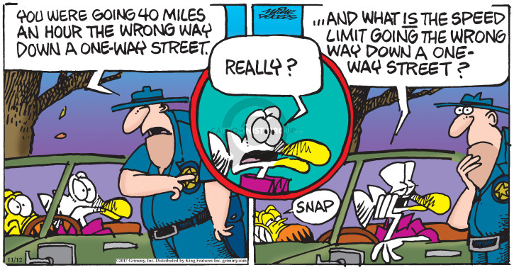 Cartoonist Mike Peters  Mother Goose and Grimm 2017-11-12 police