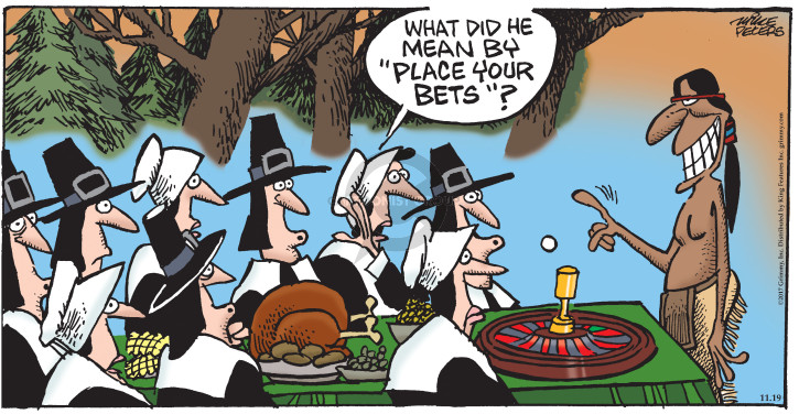 Cartoonist Mike Peters  Mother Goose and Grimm 2017-11-19 mean