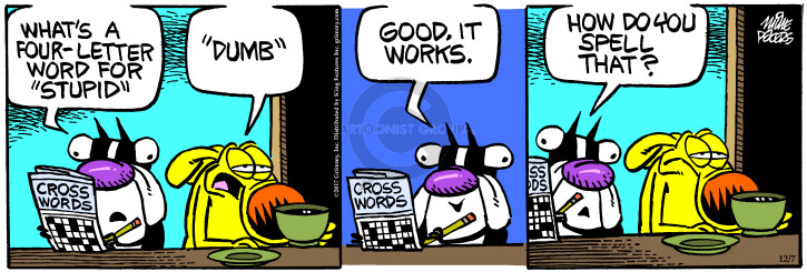 Cartoonist Mike Peters  Mother Goose and Grimm 2017-12-07 work