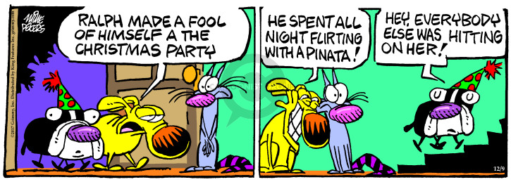 Comic Strip Mike Peters  Mother Goose and Grimm 2017-12-09 night