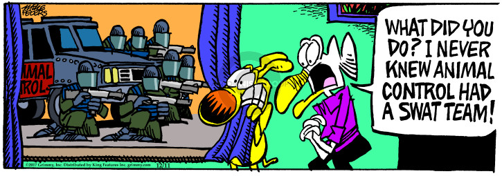 Comic Strip Mike Peters  Mother Goose and Grimm 2017-12-11 law