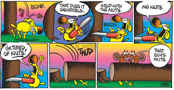 Comic Strip Mike Peters  Mother Goose and Grimm 2017-12-10 stop