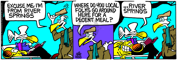 Cartoonist Mike Peters  Mother Goose and Grimm 2018-01-06 restaurant