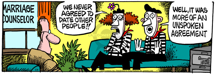 Comic Strip Mike Peters  Mother Goose and Grimm 2018-01-08 mime