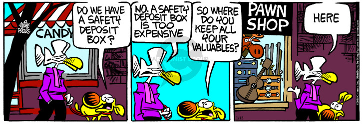 Comic Strip Mike Peters  Mother Goose and Grimm 2018-01-13 candy