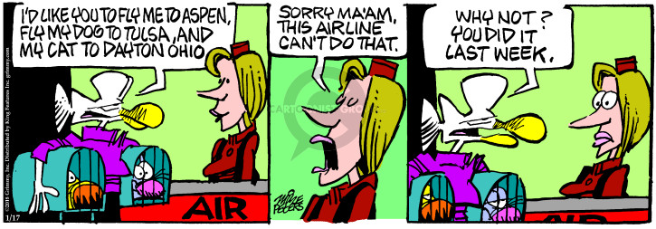 Cartoonist Mike Peters  Mother Goose and Grimm 2018-01-17 Ohio