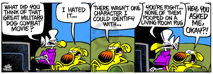 Comic Strip Mike Peters  Mother Goose and Grimm 2018-01-18 movie character