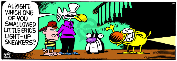 Cartoonist Mike Peters  Mother Goose and Grimm 2018-01-19 light