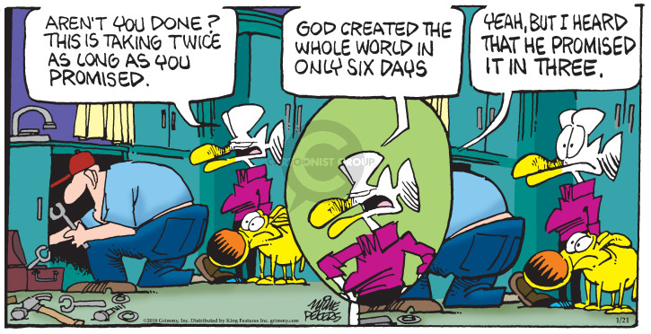 Comic Strip Mike Peters  Mother Goose and Grimm 2018-01-21 world