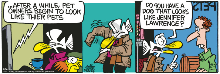 Comic Strip Mike Peters  Mother Goose and Grimm 2018-01-26 pet the dog
