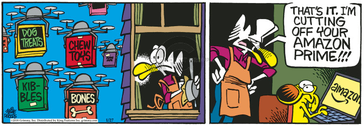 Comic Strip Mike Peters  Mother Goose and Grimm 2018-01-27 toy