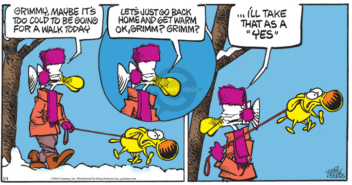 Comic Strip Mike Peters  Mother Goose and Grimm 2018-02-04 cold