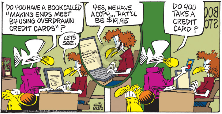 Comic Strip Mike Peters  Mother Goose and Grimm 2018-02-11 meet