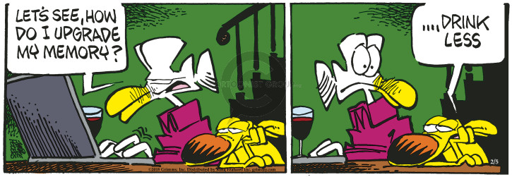 Comic Strip Mike Peters  Mother Goose and Grimm 2018-02-05 drink