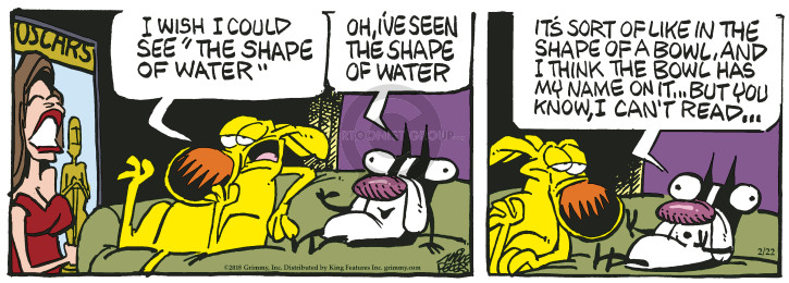 Comic Strip Mike Peters  Mother Goose and Grimm 2018-02-22 shape