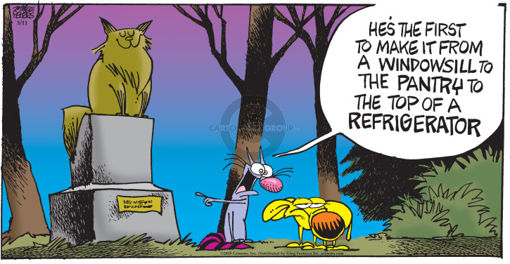 Comic Strip Mike Peters  Mother Goose and Grimm 2018-03-11 cat