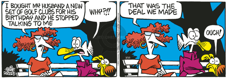 Comic Strip Mike Peters  Mother Goose and Grimm 2018-03-13 stop