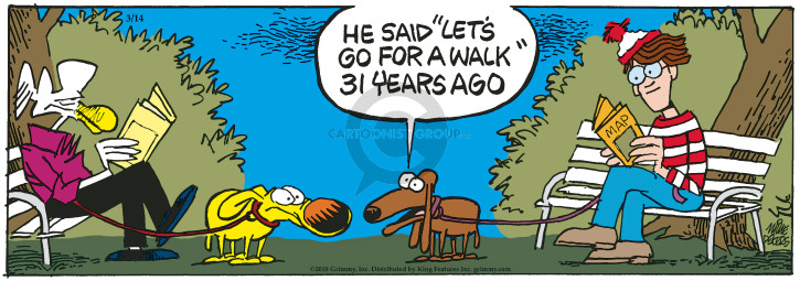 Cartoonist Mike Peters  Mother Goose and Grimm 2018-03-14 dog