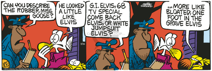 Cartoonist Mike Peters  Mother Goose and Grimm 2018-03-16 white
