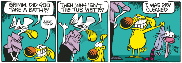Comic Strip Mike Peters  Mother Goose and Grimm 2018-03-17 grooming