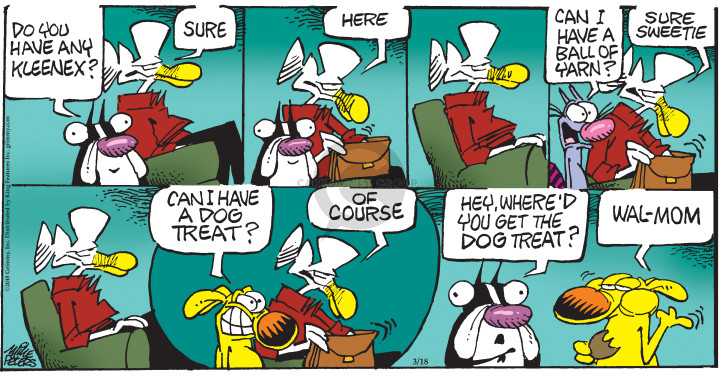 Comic Strip Mike Peters  Mother Goose and Grimm 2018-03-18 dog treat