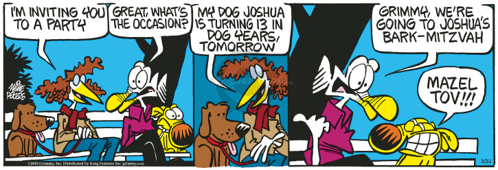 Comic Strip Mike Peters  Mother Goose and Grimm 2018-03-24 party invitation