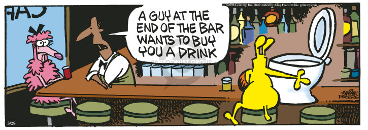 Comic Strip Mike Peters  Mother Goose and Grimm 2018-03-28 drink