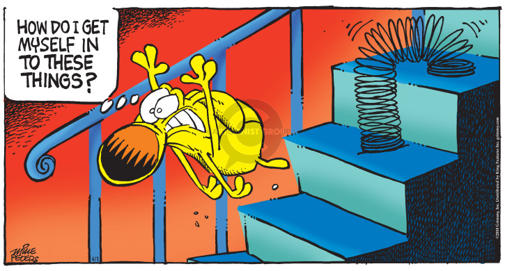 Cartoonist Mike Peters  Mother Goose and Grimm 2018-04-01 thing