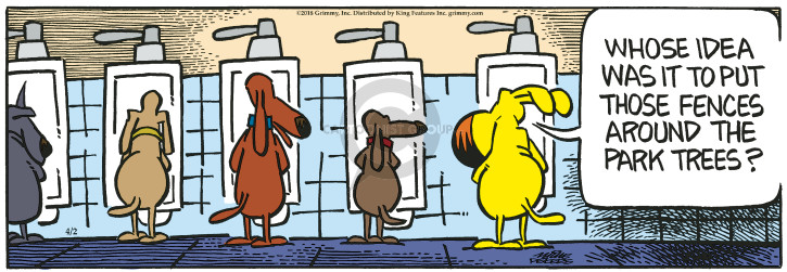 Comic Strip Mike Peters  Mother Goose and Grimm 2018-04-02 park