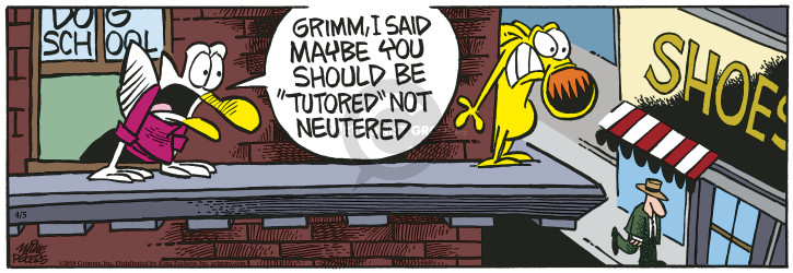 Comic Strip Mike Peters  Mother Goose and Grimm 2018-04-05 school