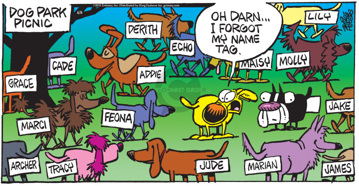 Comic Strip Mike Peters  Mother Goose and Grimm 2018-04-08 park