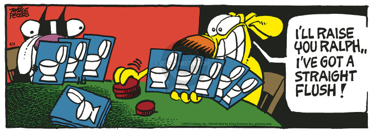 Comic Strip Mike Peters  Mother Goose and Grimm 2018-04-09 toilet bowl