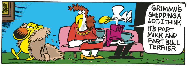 Cartoonist Mike Peters  Mother Goose and Grimm 2018-04-10 mink